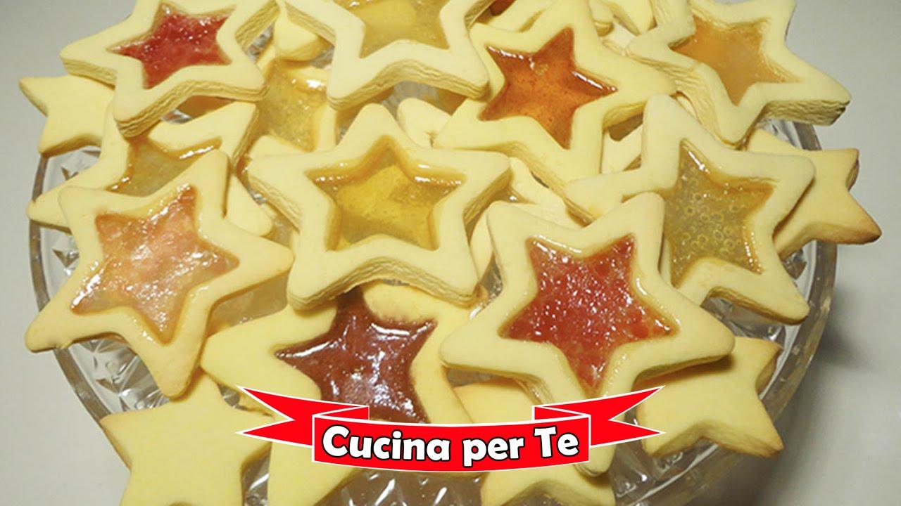 Biscotti Di Natale Effetto Vetro.Biscotti Effetto Vetro La Ricetta Di Natale Youtube