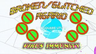 ♥AGARIO♥ Glitched/Broken & Bugged Split Free Virus Eating, Split Not Working 21K Solo