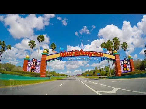 Walt Disney World 2015 Driving Down World Drive to the Magic Kingdom in 4K