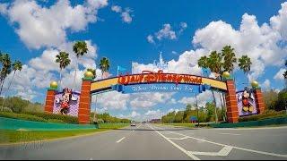 Walt Disney World 2015 Driving Down World Drive to the Magic Kingdom in 4K