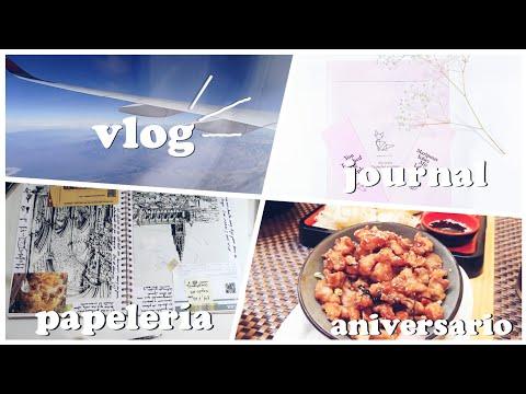 vlog1✨|| Papelería, Scrapbook, Unboxing de Journal || Aniversario ❤|| Viaje a Chile ✈