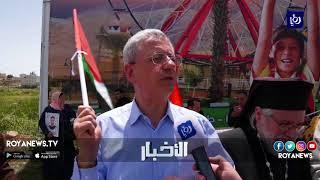الاحتلال يقمع تظاهرة مركزية في مدينة البيرة المحتلة في يوم الأسير الفلسطيني - (17-4-2018)