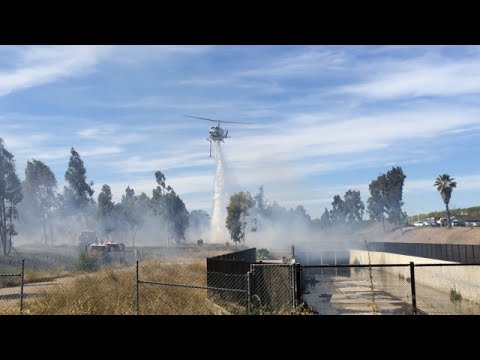CAL FIRE/CDF battle Brush Fire in Spring Valley, California