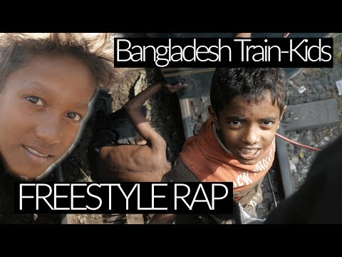 🇧🇩 Slum-Kid FREESTYLE RAPS on roof of Bangladesh TRAIN! WILL GIVE YOUTUBE REVENUE TO THE KID!