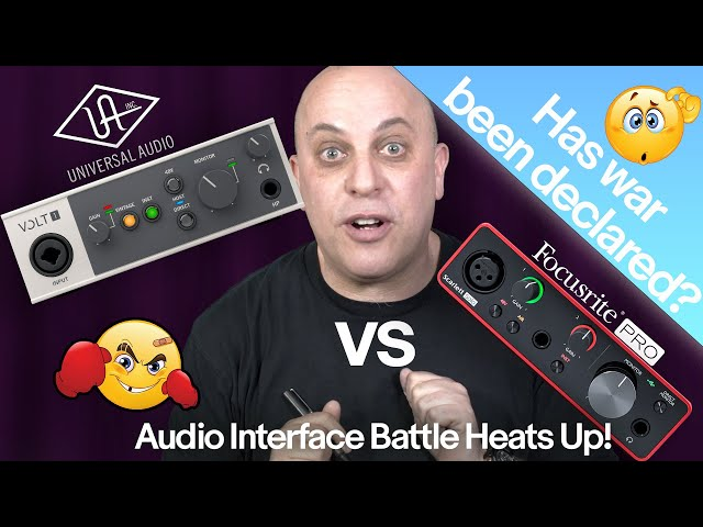 Universal Audio Versus Focusrite: Audio Interface Battle Heats Up
