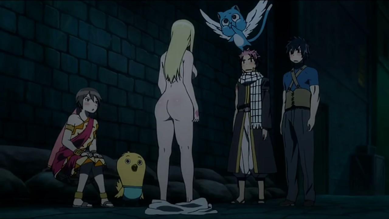 Fairy Tail Momento Gracioso Lucy Se Desnuda