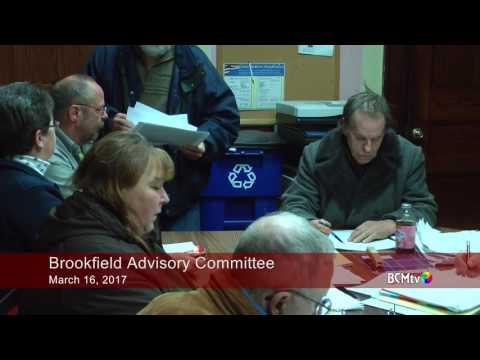 Brookfield Advisory Committee Meeting March 16, 2017