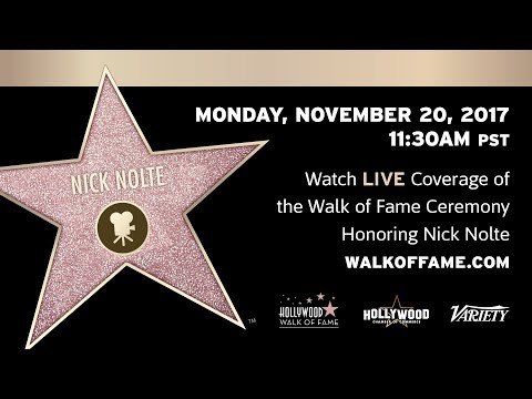 Nick Nolte  Hollywood Walk of Fame Ceremony  Live Stream
