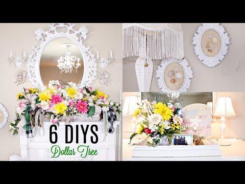 🌻6 DIY DOLLAR TREE SUMMER DECOR CRAFTS LIVING ROOM🌻 MANTEL FLORAL/ BRIDAL Olivia's Romantic Home