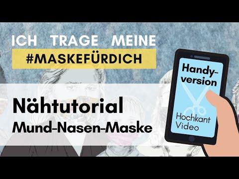 Masken-Nähtutorial fürs Smartphone (Vollbildmodus) #Mund-Nasen-Maske #MaskeFürDich