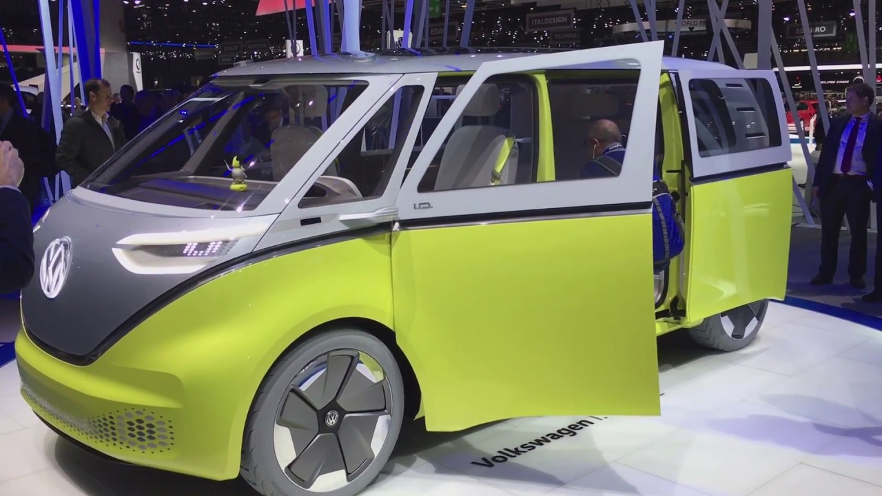 Volkswagen I D Buzz Bus Concept Walkaround At Geneva Motor Show 2017