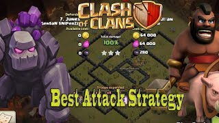 TH9 War Attack | Best Strategy Without King & Queen | War Without Hero Part 1 2017