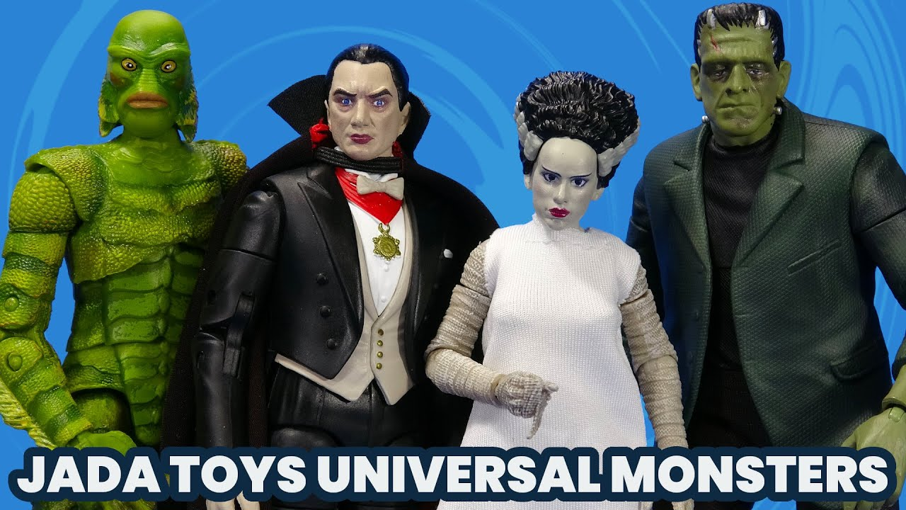 Jada Toys Universal Monsters Dracula, Frankenstein, Bride, Creature from the Black Lagoon Overview