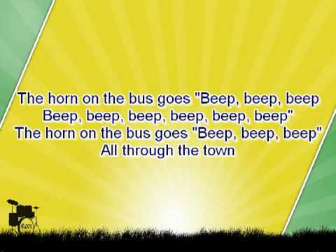 Karaoke for kids - The wheels on the bus go round and round - slow - with backing melody