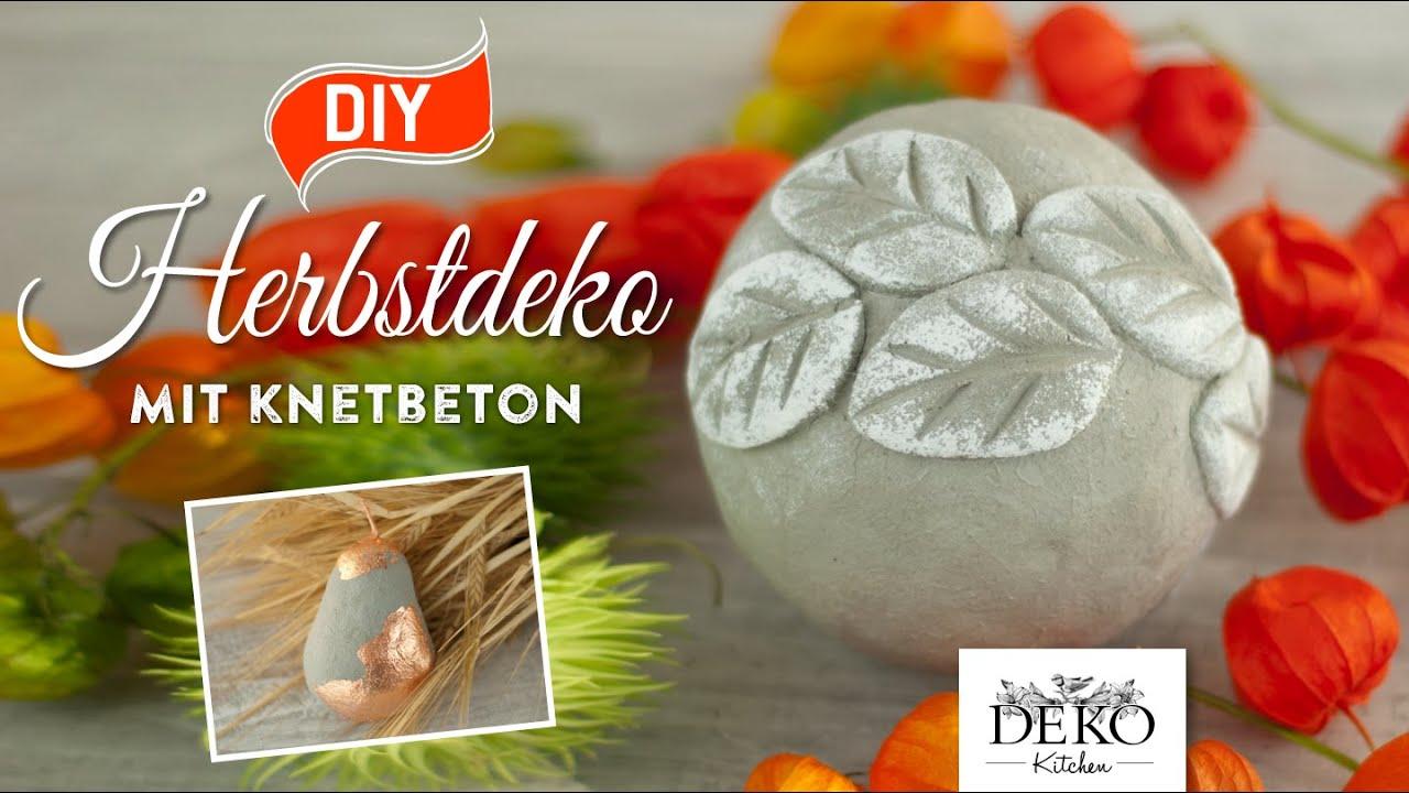 Diy h bsche herbstdeko mit knetbeton how to deko for Deko kitchen herbstdeko