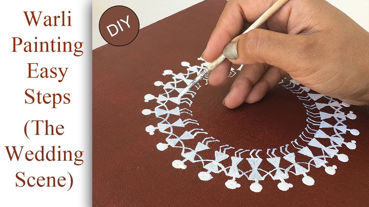 How to make warli painting diy warli wedding scene on canvas youtube how to make warli painting diy warli wedding scene on canvas thecheapjerseys Image collections