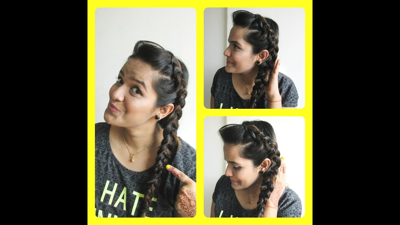 Easy hairstyle tutorial for oily greasy hairs dutchbraid