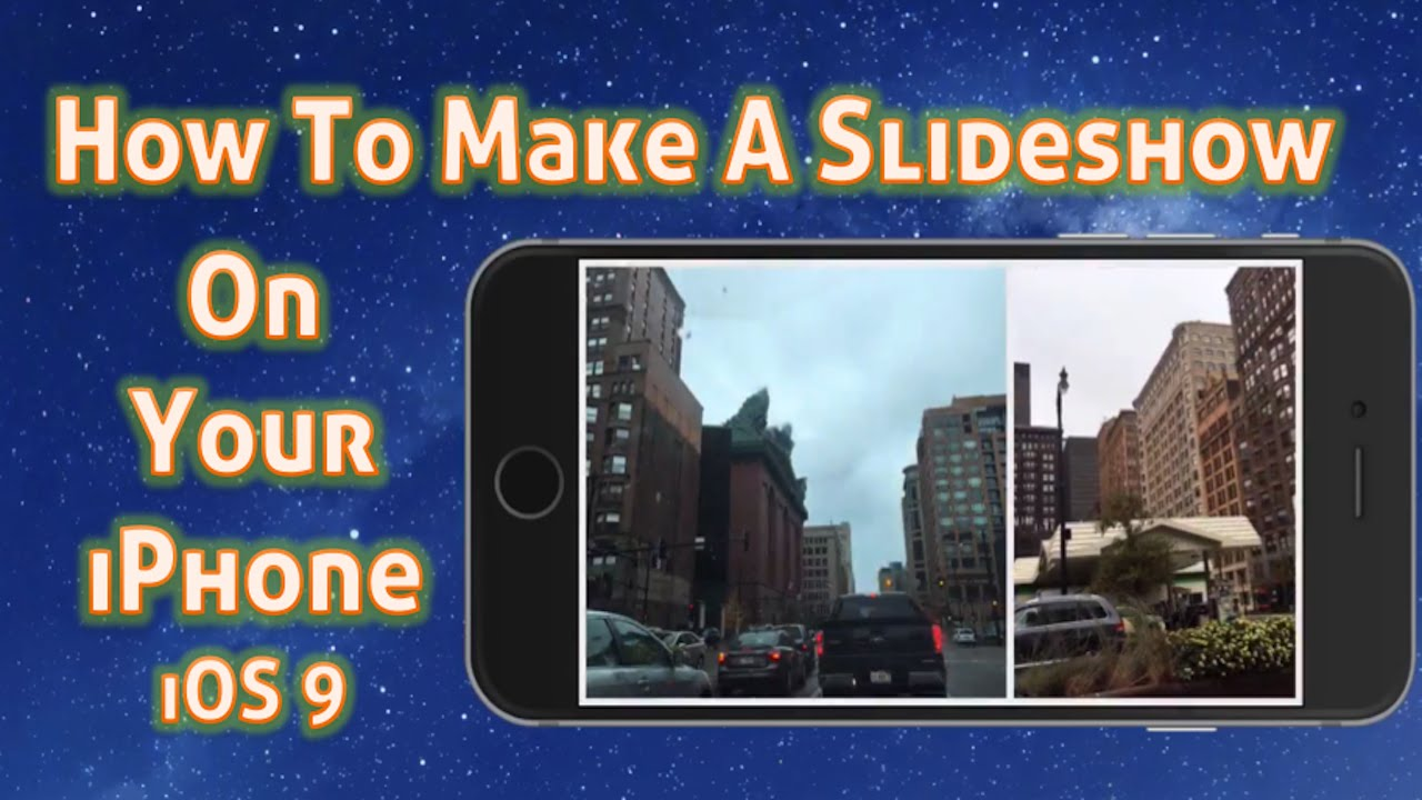 How to create a slideshow on facebook from iphone
