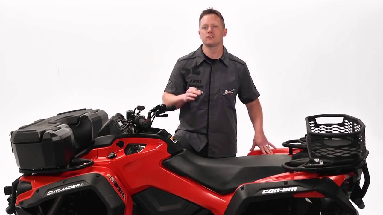 Cargo accessories for can am outlander l atvs
