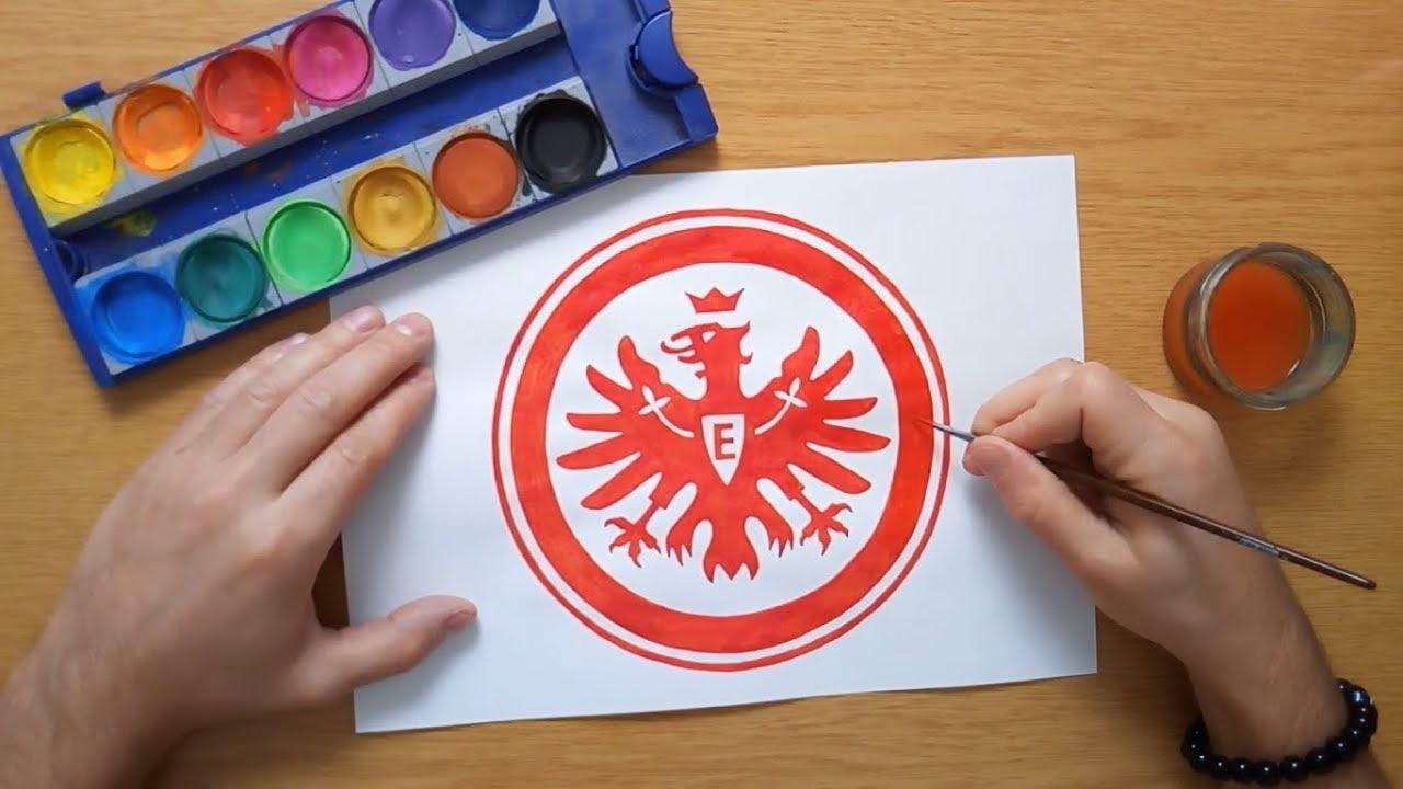 how to draw the eintracht frankfurt logo  wie zeichnet