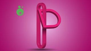 Adobe illustrator dersleri (187) zincir logo yapımı P harfi
