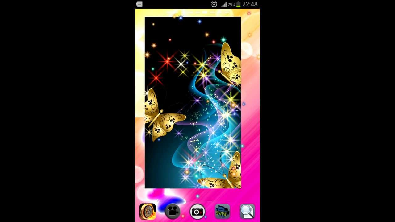 Fancy android butterfly live wallpaper with glitter sparkle fancy android butterfly live wallpaper with glitter sparkle effect youtube voltagebd Images