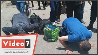 """خروج 103 سجناء بالعفو من سجن طرة وسط ترديد هتافات """"تحيا مصر"""""""