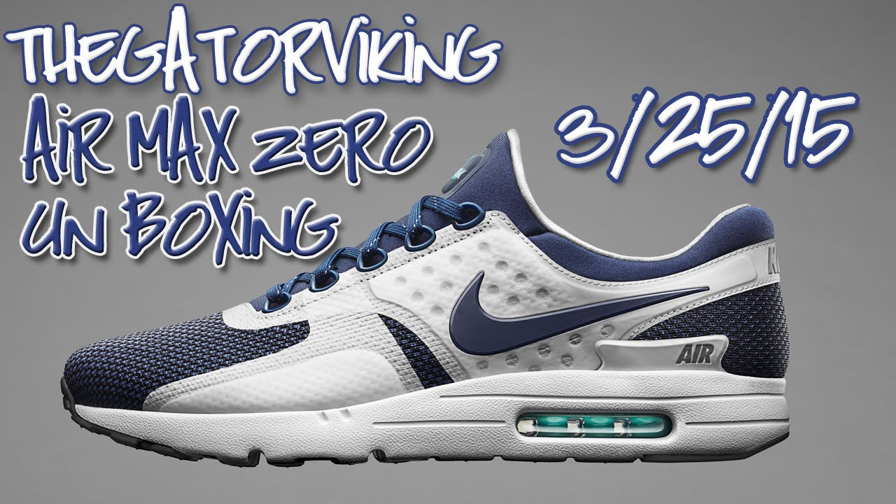 3b193bb8132f8d Nike Air Max Zero UnBoxing and First Impressions !   3-25-15 Review ...