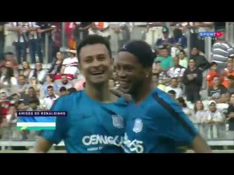 Friends of Ronaldinho vs Friends of Brazil 2002   HD 2017