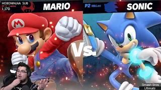 Smash Bros Ultimate  ZeRo vs Leo w/ Commentary