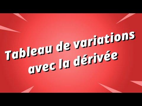 Tableau de variations d'une fonction avec la dérivée - Partie 1