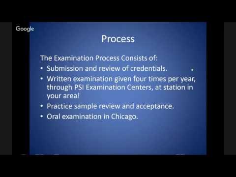 BOARD CERTIFICATION  VIA ABPP/ABCN 101