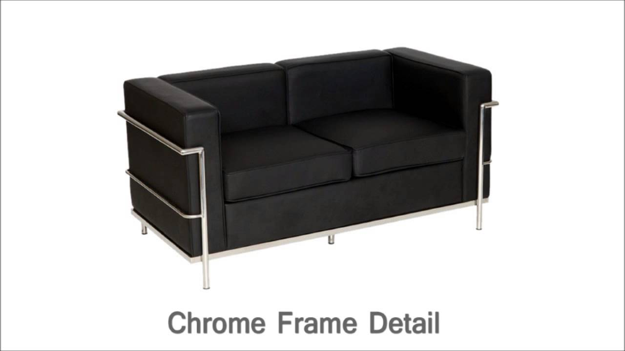 Black Faux Leather U0026 Chrome Seater Office Reception Sofa Selection   DDC  Office Furniture