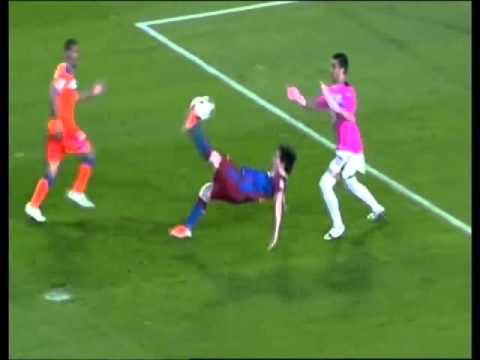 Overhead kick lionel messi vs getafe youtube - Messi bicycle kick assist ...