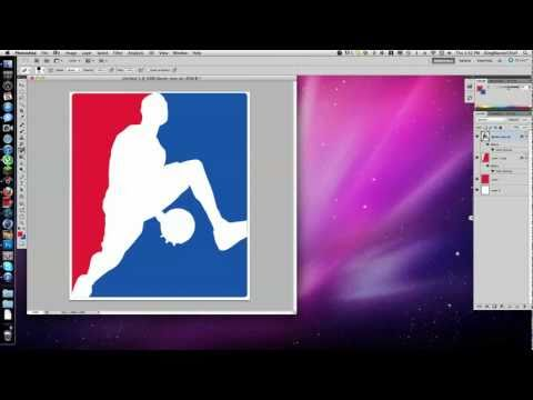 How To Make Your Own NBA Logo.