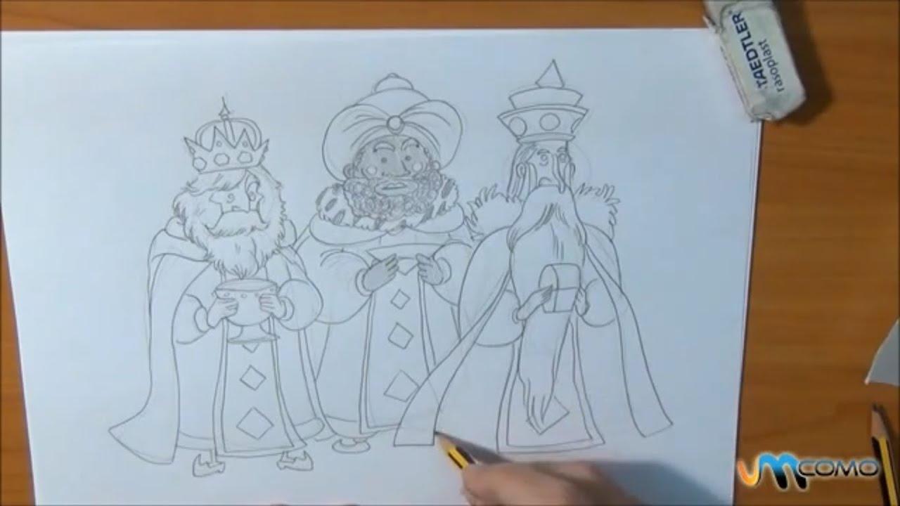 Como Desenhar Os Tres Reis Magos Youtube