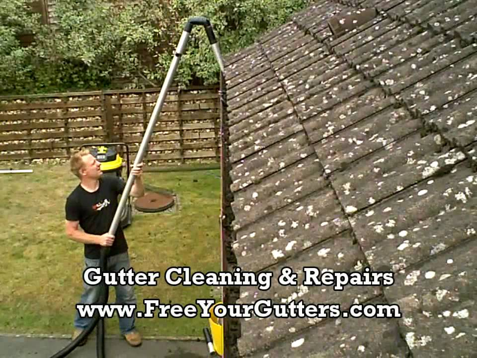 Gutter Cleaning Demo Free Your Gutters Youtube