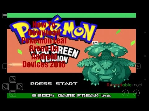 Pokemon Leaf Green Download Android