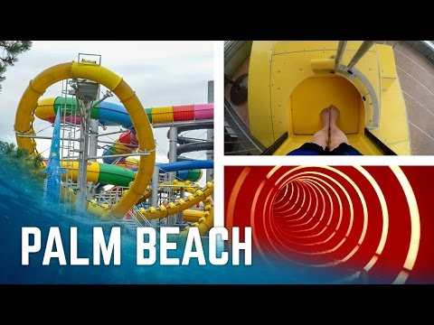 Alle Rutschen im Kristall Palm Beach Stein! (2017 Version)