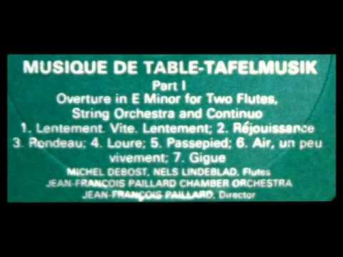 Telemann / JF Paillard, 1980: Tafelmusik - Overture in E minor for Flutes, Strings, Continuo (2)