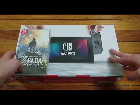 NINTENDO SWITCH UNBOXING (USA - GRAY) & ZELDA