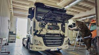 Ремонт на глаз, такой вот сервис в Польше. Устраняем заводские косяки нового DAF euro 6.