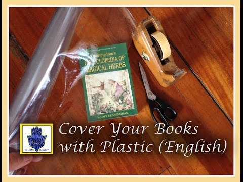 How to Cover Your Book with Plastic (English)