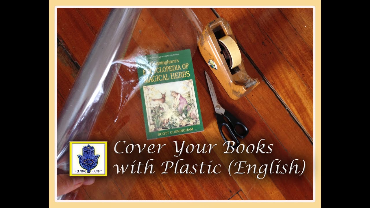 How To Wrap A Book Cover In Paper : How to cover your book with plastic english youtube