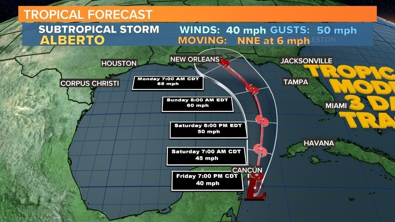 Subtropical Storm Alberto a Gulf Coast Holiday Weekend Threat; Tropical Storm ...