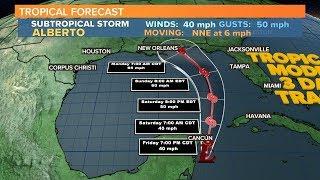 Subtropical Storm Alberto Forms, Will Strike U.S.