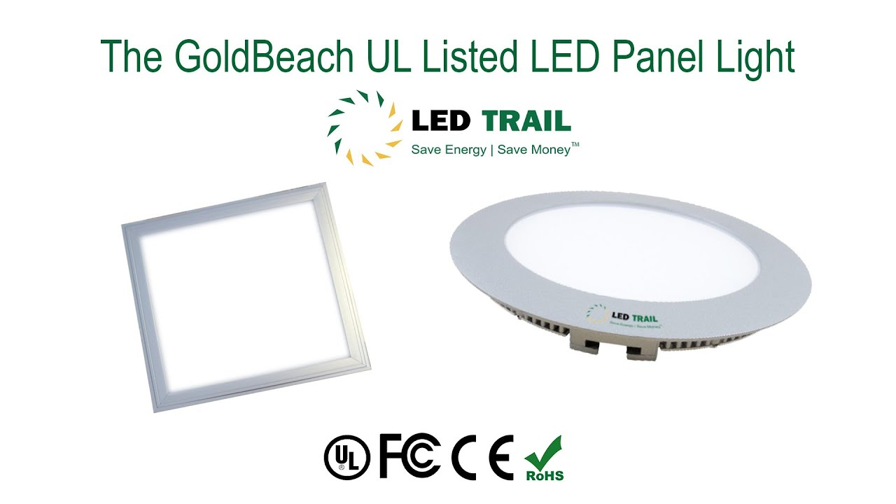 goldbeach led panel lights review from led trail round and square youtube. Black Bedroom Furniture Sets. Home Design Ideas