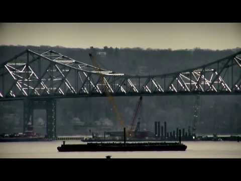 Barges and tankers Tappan Zee Bridge by Michael Sallinger 3-22-2014