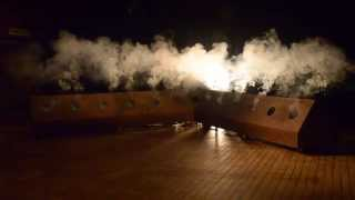Smoke Signals - installation with 12 smoke cannons