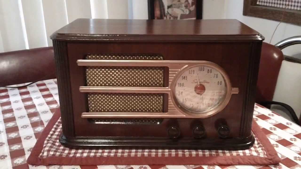 Silvertone 6050 A Vintage Tube Radio From 1946 Youtube Console Wiring Diagram
